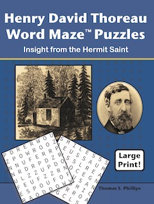 Henry David Thoreau Word Maze Puzzles