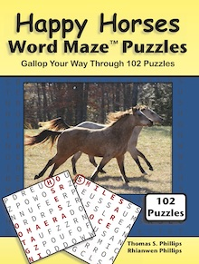 Happy Horses Word Maze Puzzles