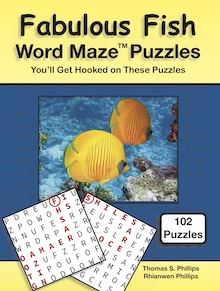 Fabulous Fish Word Maze Puzzles