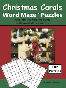 Christmas Carols Word Maze Puzzles