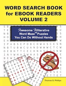 Word Search Book for Ebook Readers Volume 2